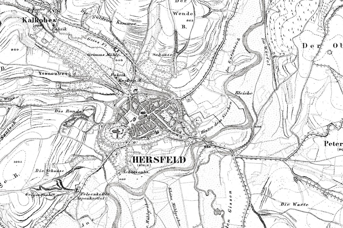 Bad Hersfeld and surroundings 1858.
